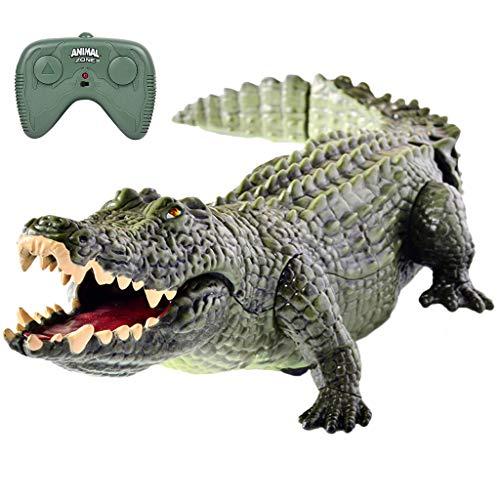 Ktyssp Funny Electric Remote Control Crocodile Toy Animal Crawling Crocodile RC Toy