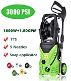 High Pressure Power Washer 3000 PSI 1800W Electric Pressure...