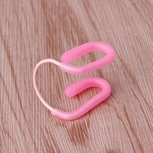 Pink 1PC Universal Swim Training Waterproof Soft Silicone Swimming Nose Clip Plug hot