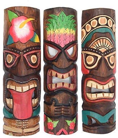 2 Tiki M/áscara de pared 100cm IM HAWAI T/ótem Buscar M/ÁSCARAS CON MOTIVOS M/áscara de madera M/áscara Isla De Pascua