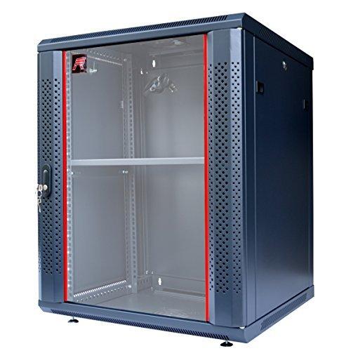 15U Server Rack Cabinet Enclosure. ACCESORIES FREE! Vented Shelf, Cooling Fan, Power Strip. Wall Mount 24
