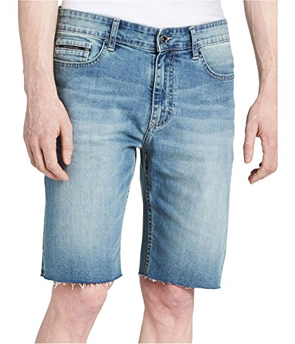 Calvin Klein Mens Stretch Casual Denim Shorts, Blue, 30
