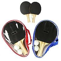 COM-FOUR® Tischtennis Turnierset - 4x Schläger, 4x Bälle, 2x Transport-Hüllen...
