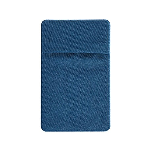 Price comparison product image Mchoice Practical 3M Adhesive Sticker Back Cover Card Holder Pouch for IPhone Samsung (Blue)