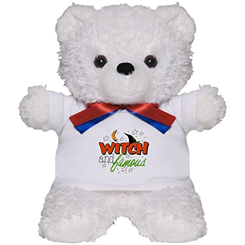 Royal Lion Teddy Bear White Halloween Witch and Famous Hat ()
