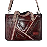 Macaro Tanager Mini - Genuine Colombian Leather - Briefcase - Red & Pink