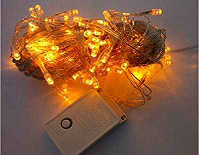 2 Days Delivery WillLight 8 Modes 10M 100 LED Fairy Light String for Wedding Christmas Party Holiday, Orange)