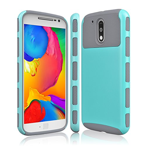 Moto G4 Case  Moto G4 Plus Case  Tekcoo  Tduke Hy  Dual Layer Hybrid Impact Defender Slim Hard Case Cover Plastic Shell Outer Soft Tpu Rubber Silicone For Motorola Moto G 4Th Gen  Turquoise Grey