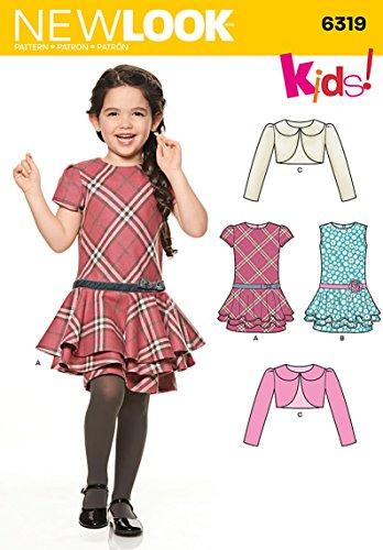 NEW LOOK U06319A Child's Jacket and Bias Dress Sewing - Dress Plaid Bias