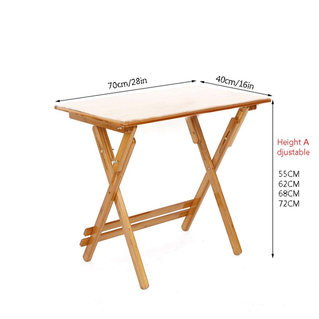 TMY Klapptisch Hubtisch Schreibtisch Bambus Schreibtisch Hubtisch Studie Tisch Höhenverstellbar Portable Table Save Space (Größe   70  40  72CM) 854b8d