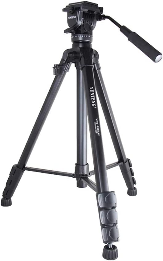 XMP Tripod with Handgrip for Compact System Cameras Color : A, Size : 999 Hydraulic Damping Portable Stand Black