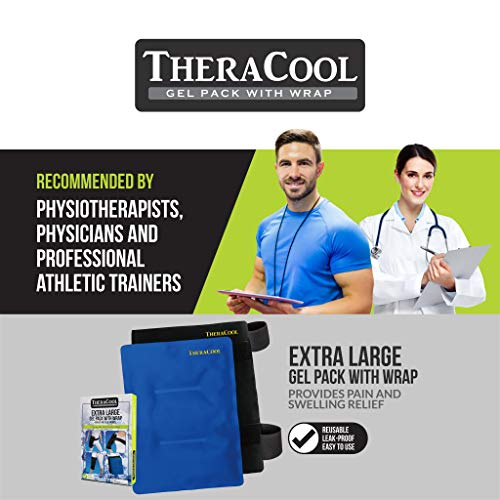 Ice Packs for Injuries Reusable Large Hot Cold Gel Pad Wrap w/Strap for Back Knee Shoulder Rotator Cuff Hip Replacement Elbow Arthritis Surgery Pain Relief Flexible Recovery Bag 14 x 11 by TheraCool by TheraCool (Image #2)