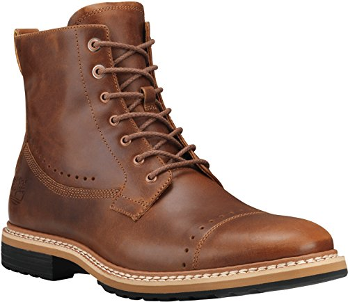 (Timberland Men's West Haven 6 Inch Side-Zip Boot, Tan Full Grain, 11 M US)