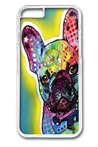 french bulldog 5 Custom iphone 6 plus 5.5 inch Case Cover Polycarbonate Transparent