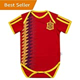 Spain National Bodysuits Onesize For 9-18 Months Baby Suit Red