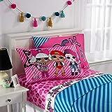 L.O.L. Surprise! Kids Bedding Soft Microfiber Sheet Set, Pink Blue-Full Size 4 Piece Pack