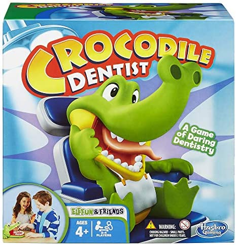 Hasbro Crocodile Dentist Kids Game Ages 4 and Up, Board Games - Amazon  Canada
