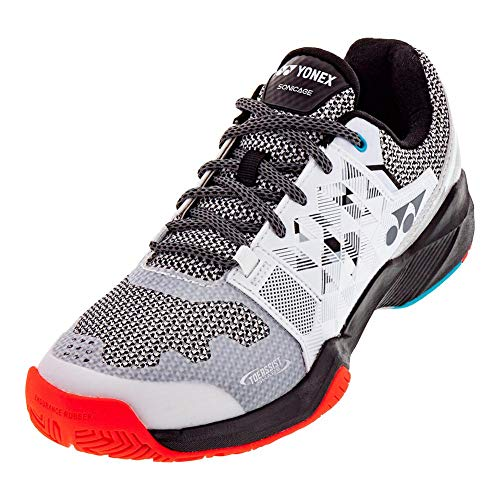 YONEX Men`s Power Cushion Sonicage Tennis Shoes White and Black (11 White and Black)