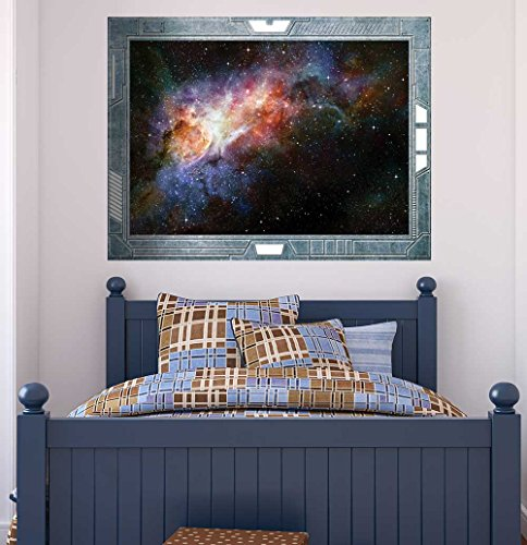 Science Fiction ViewPort Decal Spectaluar View into Deep Space Wall Mural