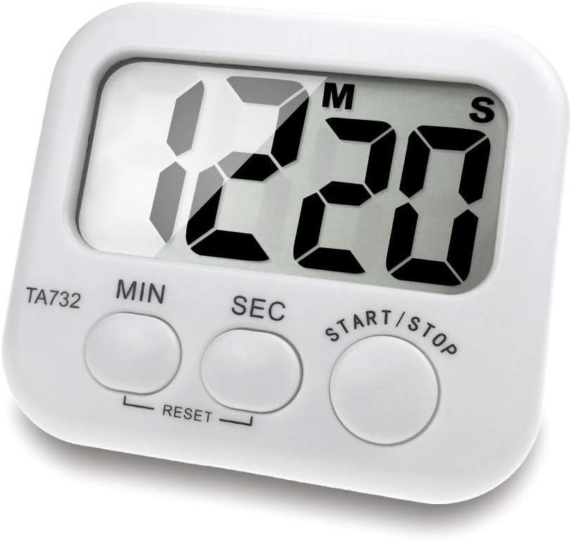 Pomodoro Horloge de cuisine Grand /écran Rappel son fort Fonctionnement tr/ès simple avec aimant /à larri/ère