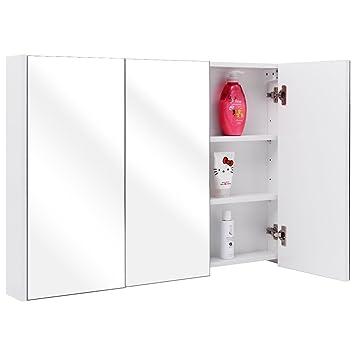 36quot Wide Wall Mount Mirrored Bathroom Medicine Cabinet Storage 3 Mirror