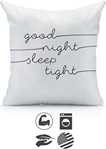 Oh, Susannah Good Night Sleep Tight 18x18 Inch Throw Pillow Cover Kids Room Decor