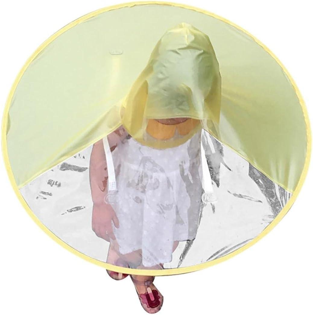 Vertily Hat Cute Novelty Foldable UFO Raincoat Umbrella Hands Free for Boy/&Girls