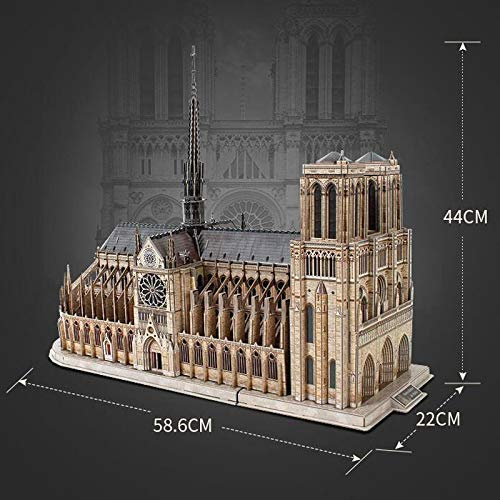 nuevo estilo CAI-1 CAI-1 CAI-1 Madera 3D Rompecabezas Juguete descompresión Montaje Modelo niños difícil Hecho a Mano de Madera Notre Dame Gran Edificio de la Iglesia  ahorra hasta un 50%