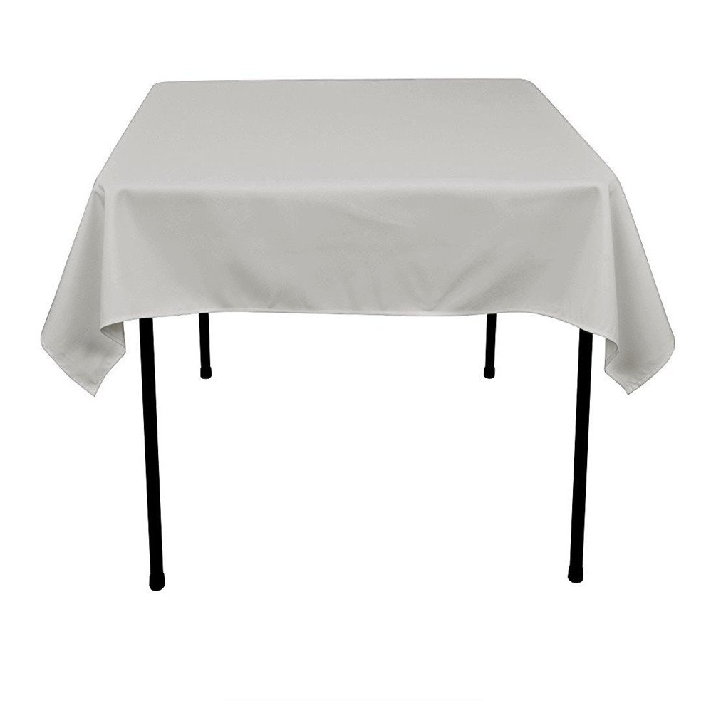 TRLYC Tablecloth 50x50 Black Tablecloth Polyester Table Cloth Cover