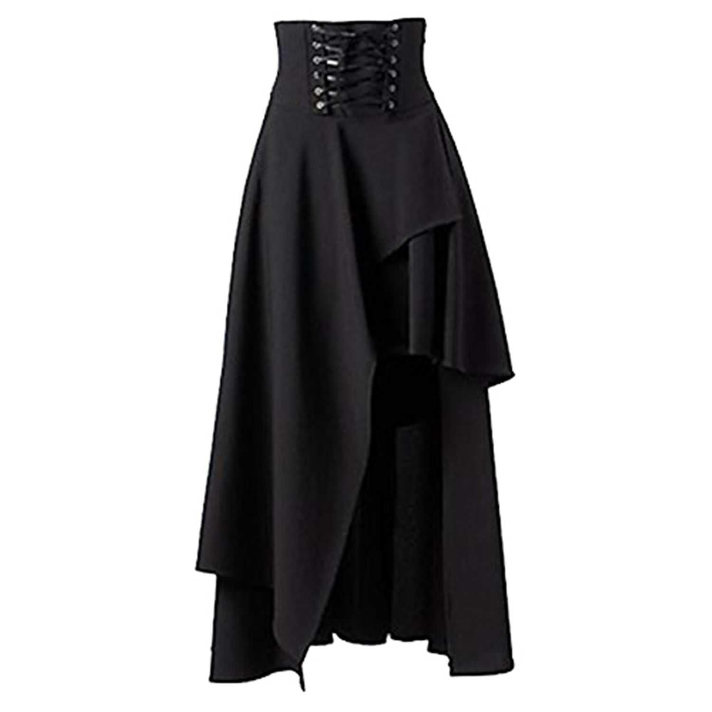 Women's Gothic Lolita Band Waist Skirt Steampunk Vintage Style Skirt