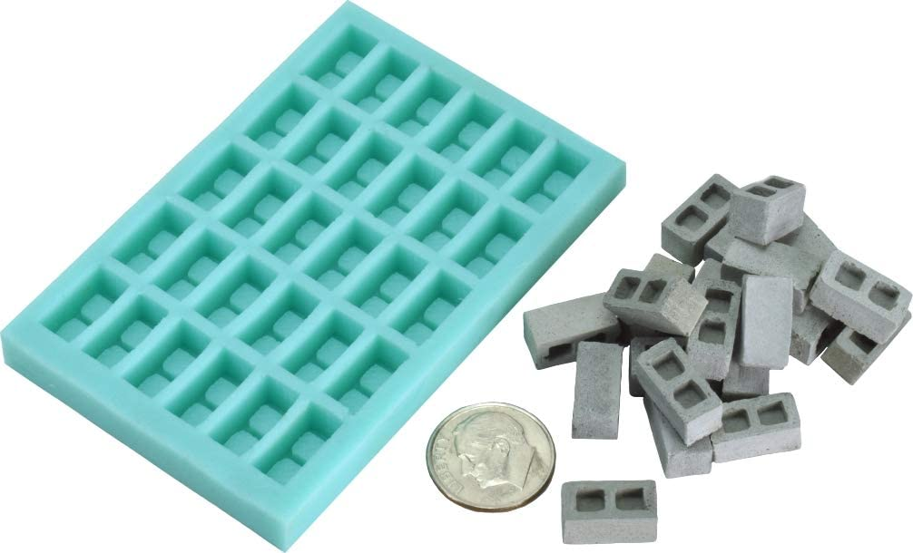 1 Piece 1:35th Scale Highly Detailed Brick Silicone Mold