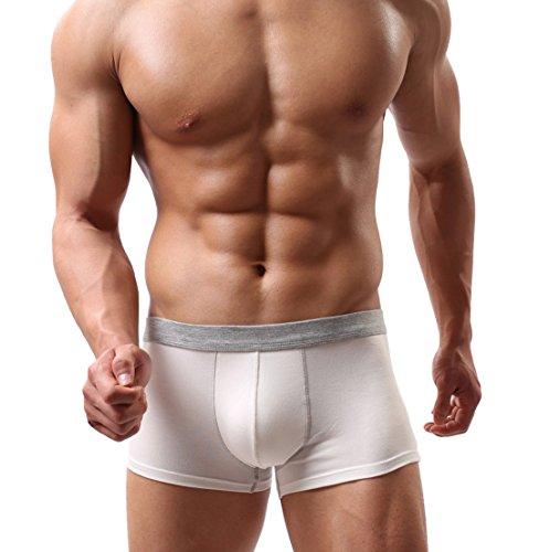 Voberry® Sexy Underwear Men's Boxer Briefs Shorts Bulge Pouch soft Underpants (M, (Mens Pouch Short)