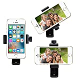 foto selfie - Foto&Tech Universal Adjustable Smartphone Tripod Mount Adapter Cell Phone Stand Holder Selfie Mount Clip for Apple iPhone X 8 7 7+ Sumsang Android HTC All Smartphones 360 Rotates Vertical & Horizontal