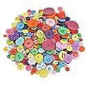 可愛いボタン600個手芸用樹脂ボタン 詰め合わせ丸型 2穴4穴カラフル カラフルなボタン