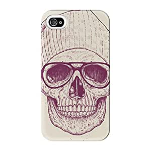 Cool Skull Full Wrap High Quality 3D Printed Case for iPhone 4 / 4s by Balazs Solti + FREE Crystal Clear Screen Protector