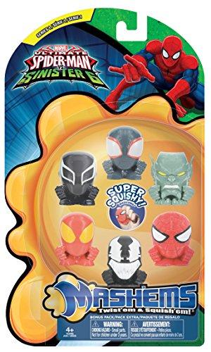 Tech 4 Kids Mash'ems Spiderman  Value Pack Action Figure