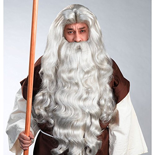 [Enigma 00328 Father Times Deluxe Wig & Beard Set] (Moses Costume Ten Commandments)