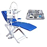 Super Dental Portable Folding Chair Mobile Unit +Push Type High Low Speed Hand Kit 4H