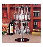 2- tier Swiveling Red wine glass rack stemware holder