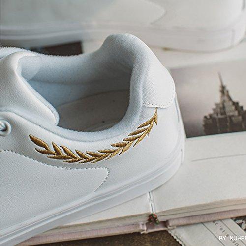 Blancos Plano Nan Mujer Zapatos Inferior Moda Respirable De 01 Verano nfW4X4q8v