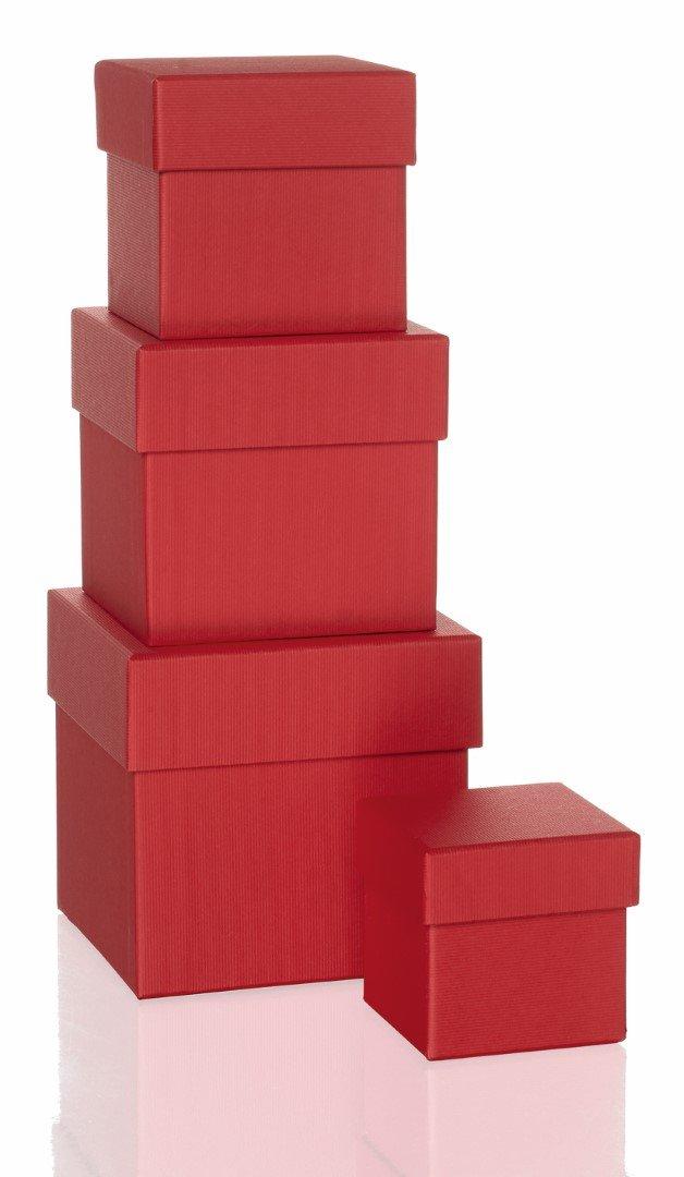Rössler Papier - - Boxline-Rot m. Struktur - 4er Kartonage, quadratisch B07CX58S1G   Billig ideal