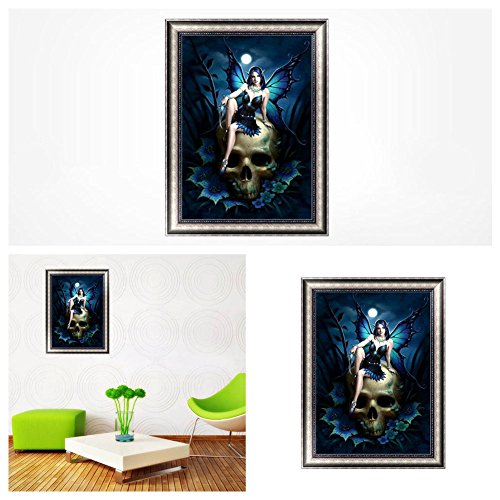 Chige DIY 5D Diamond Painting Kit, Cross Stitch Craft Kits Rhinestone Embroidery Wall Stickers Pasted Picture Drawing for Living Room Craft Home Wall Decor (Angel)