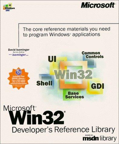 Microsoft Win32 Developer's Reference Library (Dv-Microsoft Professional) (1999-12-01) by Microsoft Press