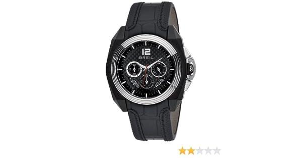 Breil BW0325 - Reloj analógico de caballero de cuarzo con correa de piel negra - sumergible a 100 metros: Amazon.es: Relojes