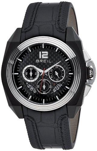 Breil BW0325 - Reloj analógico de caballero de cuarzo con correa de piel negra - sumergible