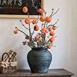 G Home Collection Rustic Artificial Persimmon Fruit Stem 43'' Tall