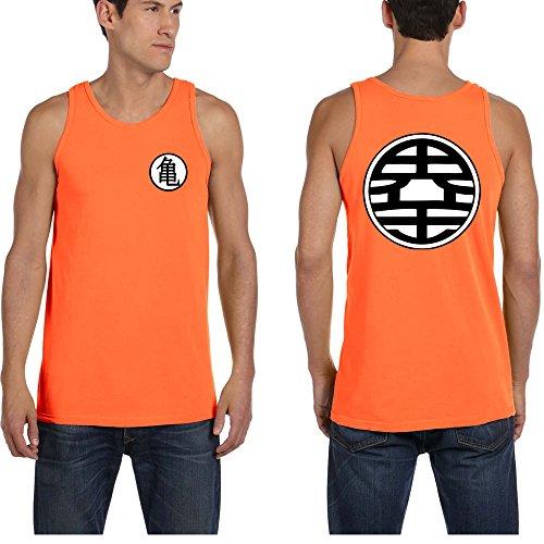 Men's TANK TOP Z BALL Kame Symbol Dragon T-Shirt L Orange