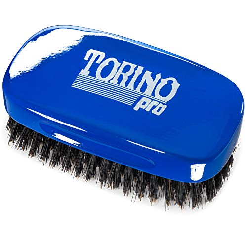 Torino Pro Medium 7 Row Palm Wave Brush By Brush King - #1890 - Firm Medium Palm waves brush with great pull - Great for Connections and Wolfing - For 360 Waves