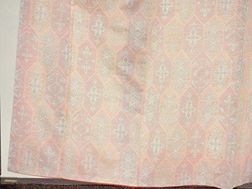 リサイクル紬 / 正絹白地横双絣袷大島紬着物未着用品 / レディース【裄Sサイズ】(中古紬着物 中古つむぎ リサイクル着物)【ランクS】