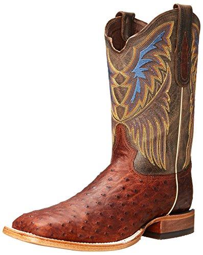 Tony Lama Men's 6079-FQ Ostrich Western Boot,Sienna,13 D US (Fq Ostrich)